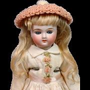 "Gorgeous Petite 9"" Closed-Mouth Belton Blue-Eyed Girl on Antique Body"