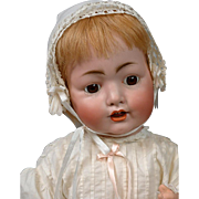 """Adorable & Chunky Konig & Wernicke 99 Baby Doll 22"""" on Original Body in Antique Costume"""