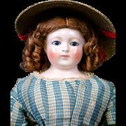 """SALE Exquisite 20.5"""" Enfantine Poupee by Blampoix in Her Original Ensemble~Mint Condition"""
