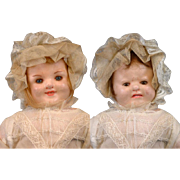 SALE Peculiar Two-Face Wax Antique Child Doll with Original Wax Limbs