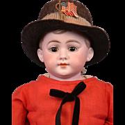 """Charming American Schoolboy 22"""" Antique Boy German Doll"""