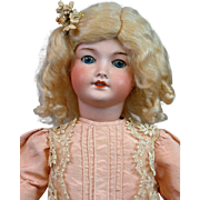 """*Darling* UNIS 301 Blue-Eyed Doll 17"""" with Lovely Silk Dress"""