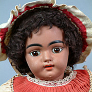 "SOLD Extraordinary ALL ORIGINAL 18"" Rare Brown Simon & Halbig 1009 Antique German Doll"