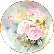 "Pristine 12.5"" T&V Limoges Rose Tea Charger Dresser Plate Victorian- Simply Magical Rare"
