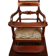 Exquisite Chippendale-Late Georgian-Napoleonic Transition Period High Chair C. 1798-1805 of ..