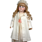 Utterly Pristine C. 1890 Antique Victorian Bebe Child Doll Coat Museum Quality