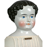 """SALE 23.5"""" China Lady SUPERB Early Modeling In All Original Civil War Era Child ..."""
