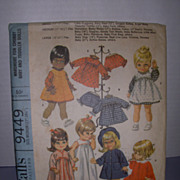"McCall's Vintage Pattern for Betsy Wetsy, Baby Giggles, Baby First Step 17""-18 1 ..."