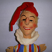 "SALE PENDING Vintage Kersa Hand Puppet ""Jester"" Made in Germany!"