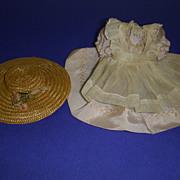 Vintage 1930's Madame Alexander Original McGuffey Ana Dress & Straw Hat!