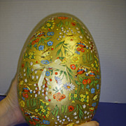 SALE Rare Large Vintage German Easter Egg Candy Container!