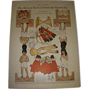 "SALE 1922 Vintage Paper Doll Sheet ""The Mexican Twins Celebrate San Ramon's Day"" Unc"