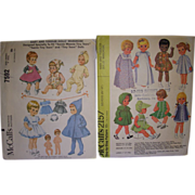 SALE 2 McCall's Vintage Patterns for Betsy Wetsy, Tiny Tears, Other Baby & Toddler 8 ...