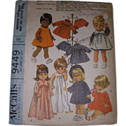 "SALE McCall's Vintage Pattern for Pussycat, Baby Dear & Other 19""- 22"" Dolls."