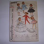 "Simplicity Vintage 10 1/2"" Doll Pattern - Little Miss Revlon!"