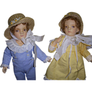"""SALE MIB R. John Wright """"Molly & Jack"""" from the Kate Greenaway Series"""