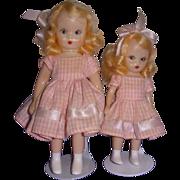 1950s Nancy Ann Storybook Doll Big & Little Sister Set!