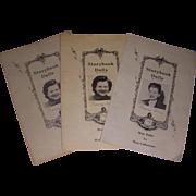 3 Vintage Nancy Ann Storybook Doll Booklets!