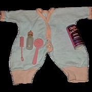 Vintage 1950's Dydee Baby PJ's & Accessories
