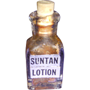 Vintage Mini Cutex Suntan Lotion Bottle!