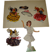 "1911 Vintage Paper Doll Sheet ""Polly's Paper Playmates"" Boston Post"