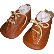 Vintage Large Brown Doll Shoes