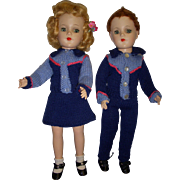 Vintage 1950s Mary Hoyer Boy and Girl Pair