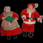 Vintage Dollhouse Santa & Mrs. Claus Dolls