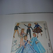 "McCall's Vintage High Heel Fashion Doll Pattern for 22"" Doll"
