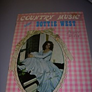 """1973 Vintage """"Country Music Star Dottie West"""" Paper Doll Set !"""