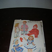 "McCall's Vintage Tiny Tears, DyDee, Betsy Wetsy, Baby Toodles Doll Pattern for 23""-25 ..."