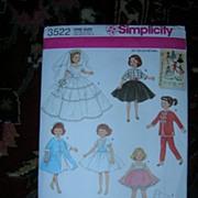 "Simplicity 10 1/2"" Doll Pattern - High Heeled Fashion Dolls!"