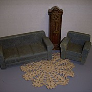 Vintage 1930s Strombecker  Wooden 3-Piece Living Room Set!