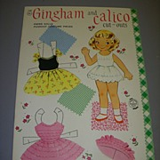 """Vintage """"Gingham and Calico"""" Uncut Paper Doll Set !"""