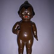 Vintage German Celluloid Black Kewpie Character Doll!