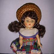 """Vintage 1954 8"""" Virga Doll All Original!"""