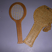 Vintage Mary Hoyer Tennis Racket with Carrying Case!