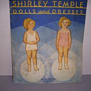 "Vintage Paper Doll Set ""Shirley Temple Dolls and Dresses"" Uncut!"