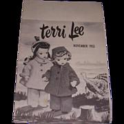 SOLD Vintage Original Terri Lee Booklet 1955!