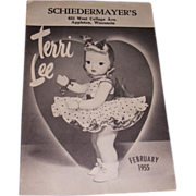 SOLD Vintage Original Terri Lee Booklet 1955!