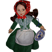 """Vintage Cloth Norah Wellings """"Irish Colleen"""" Mint Doll with Hand Tag & Label!"""
