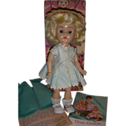Vintage 1950s Vogue Ginny Doll Boxed in Original Tagged Outfit!