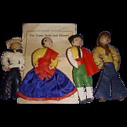 Unusual Leather Doll Pins! Vintage!
