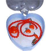 Vintage Doll Necklace-Bracelet-Earring Set!