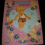 """Vintage """"The Kewpies """" Uncut Paper Doll & Coloring Book!"""