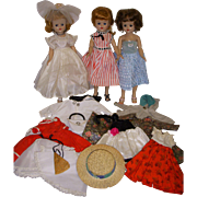 SALE PENDING 3 Vintage 1950s Jill Dolls with Original Outfits by Vogue