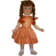 Vintage 1950s Red Haired Hard Plastic Doll