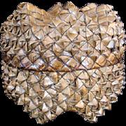 Wonderful Old FOLK ART Woven Sewing Basket, Hawaiian Art Unusual Shape