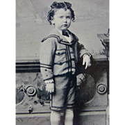 "Wonderful Antique 5"" Tintype PHOTOGRAPH, Spoiled Little Lord Fauntleroy"