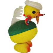 Vintage Bobble Head EASTER Duck Paper Mache CANDY CONTAINER, W. Germany